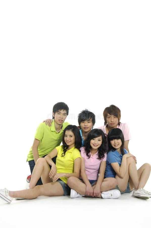 Estudantes novos asiáticos imagens de stock