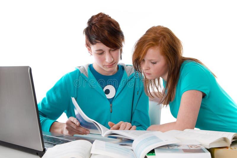 Estudantes novos que aprendem imagem de stock royalty free