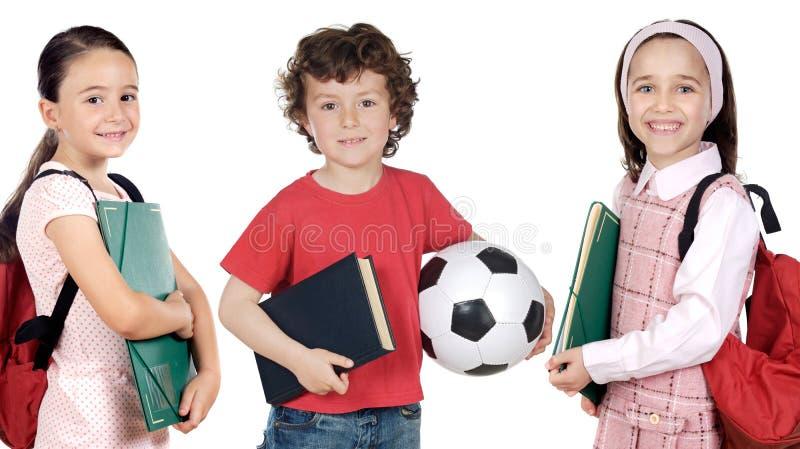 Estudantes pequenos imagem de stock