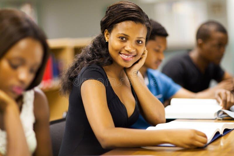 Estudantes universitários africanos fotografia de stock