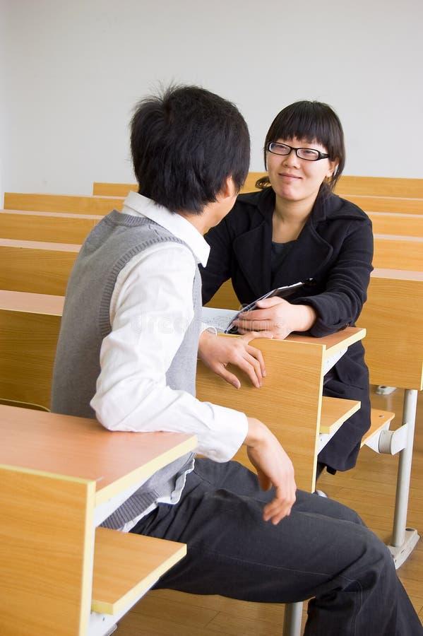 Estudantes universitários asiáticos fotografia de stock royalty free