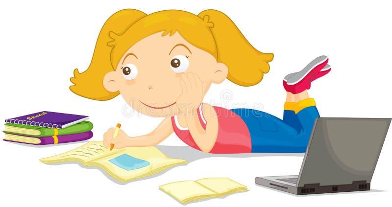 Estudiante stock de ilustración