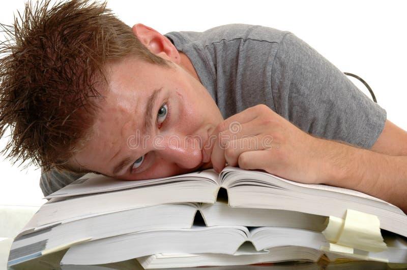Estudiante aburrido foto de archivo libre de regalías
