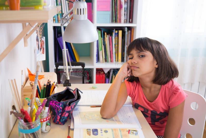 Estudiante aburrido Girl imágenes de archivo libres de regalías