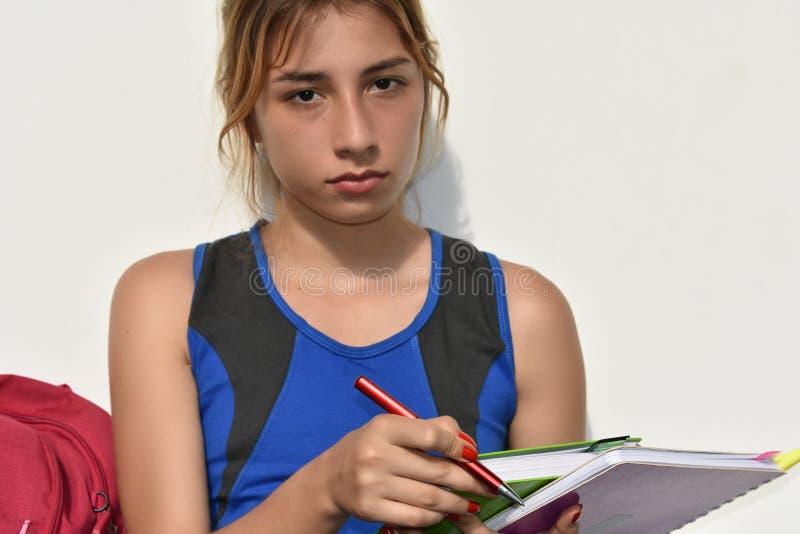 Estudiante adolescente serio foto de archivo libre de regalías