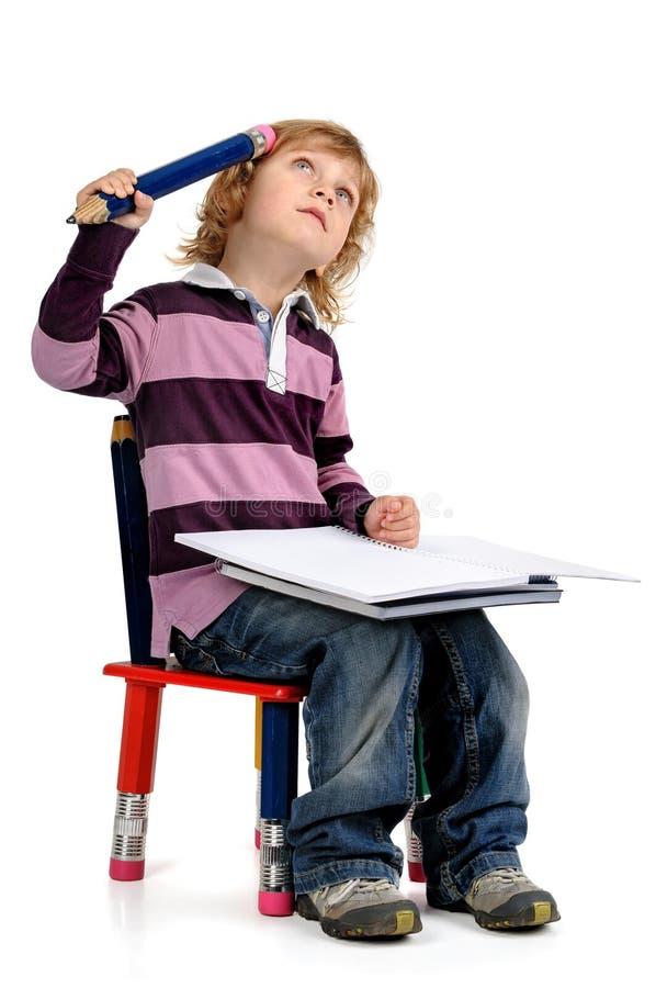 Estudiante aislado en blanco imagen de archivo libre de regalías