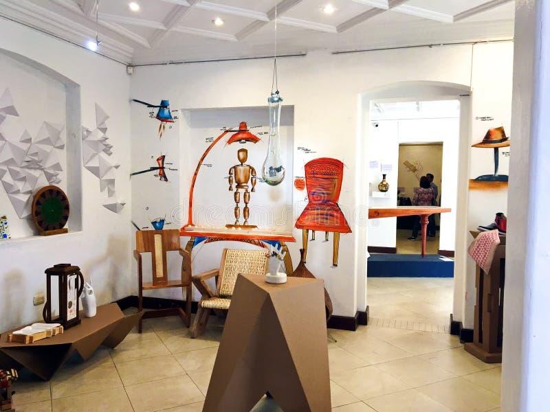 Estudiante Art Exhibit en el museo moderno, Cuenca Ecuador foto de archivo