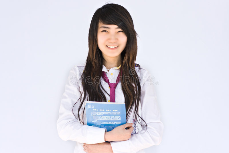 Estudiante Asiático Del Famale Imágenes de archivo libres de regalías