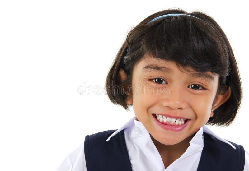 Estudiante asiático suroriental de la escuela primaria foto de archivo