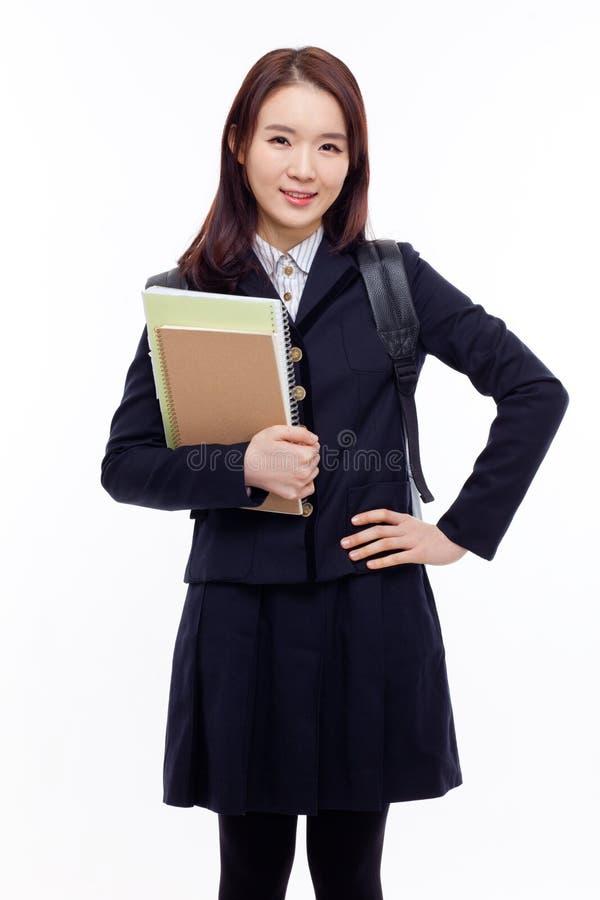 Estudiante bastante asiático de los jóvenes imagenes de archivo