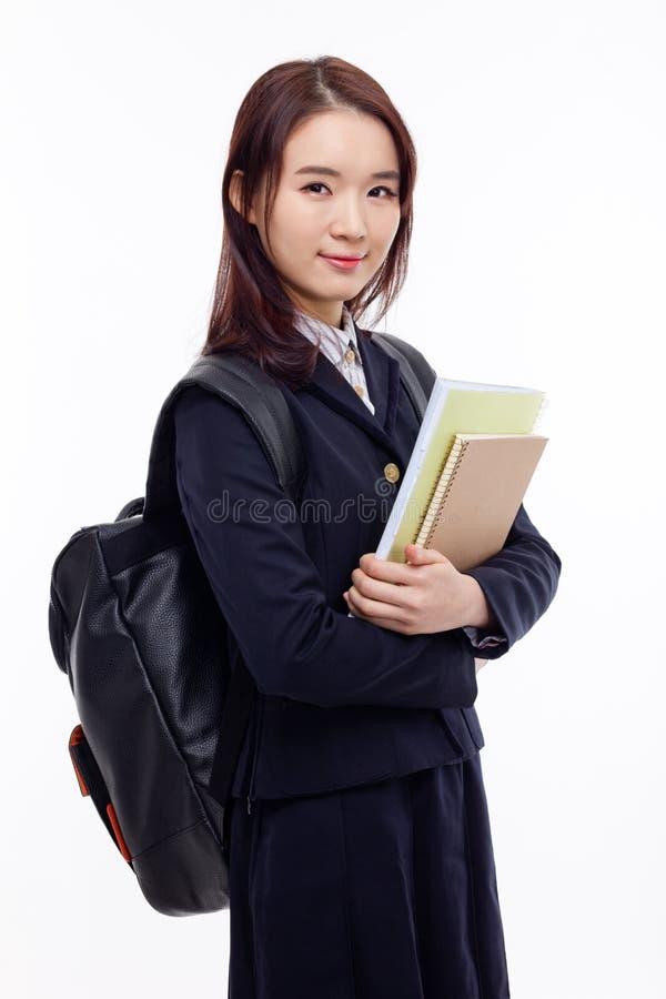 Estudiante bastante asiático de los jóvenes foto de archivo