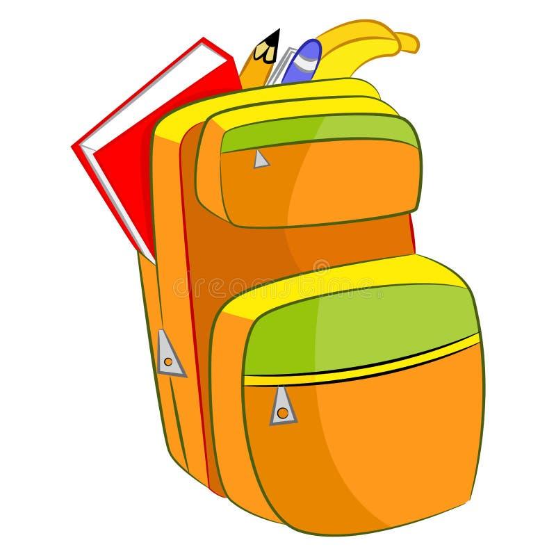 Estudiante Book Bag de la historieta stock de ilustración