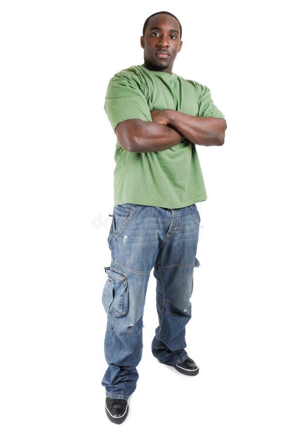 Estudiante confidente con los brazos cruzados fotos de archivo