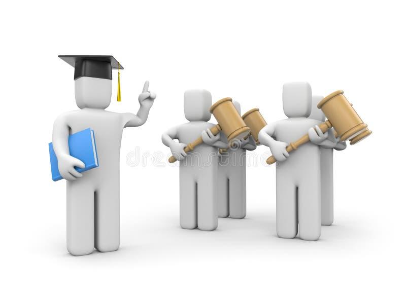 Estudiante de Derecho y conferenciante o academic libre illustration