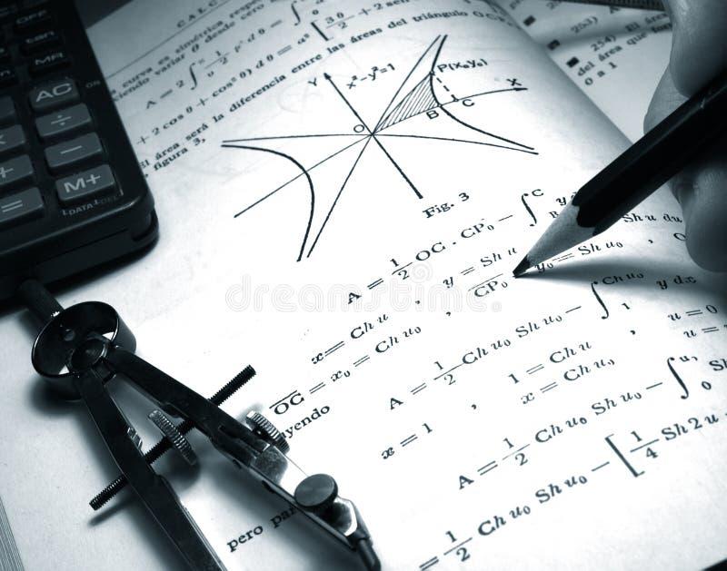 Estudiante de las matemáticas imágenes de archivo libres de regalías