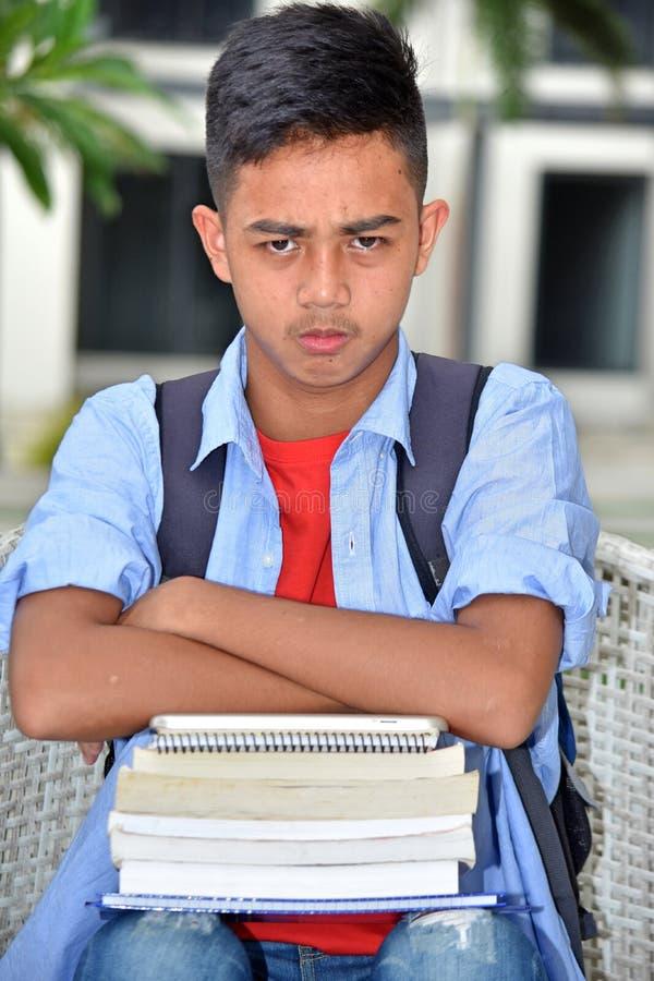 Estudiante de minoría hermoso obstinado foto de archivo libre de regalías