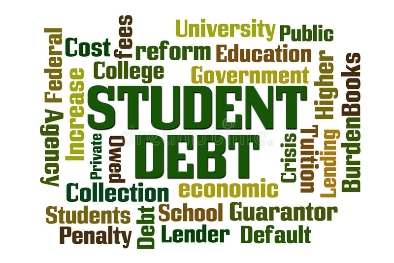 Estudiante Debt ilustración del vector