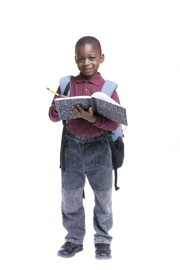 Estudiante del afroamericano imagenes de archivo