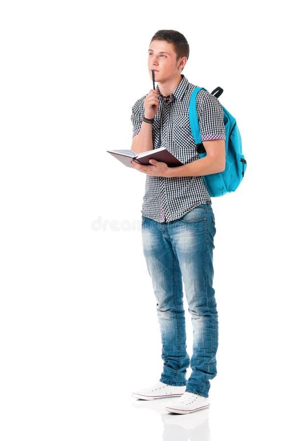 Estudiante del hombre joven foto de archivo