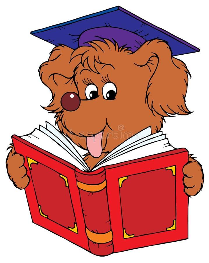 Estudiante del perro ilustración del vector