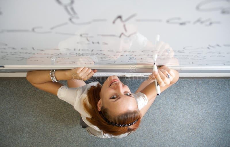 Estudiante del químico foto de archivo