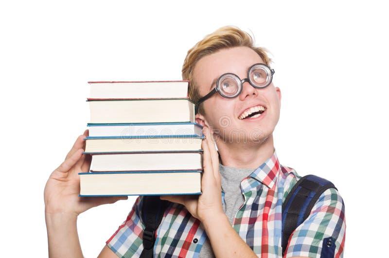 Download Estudiante Divertido Con La Pila Imagen de archivo - Imagen de varón, divertido: 41915053