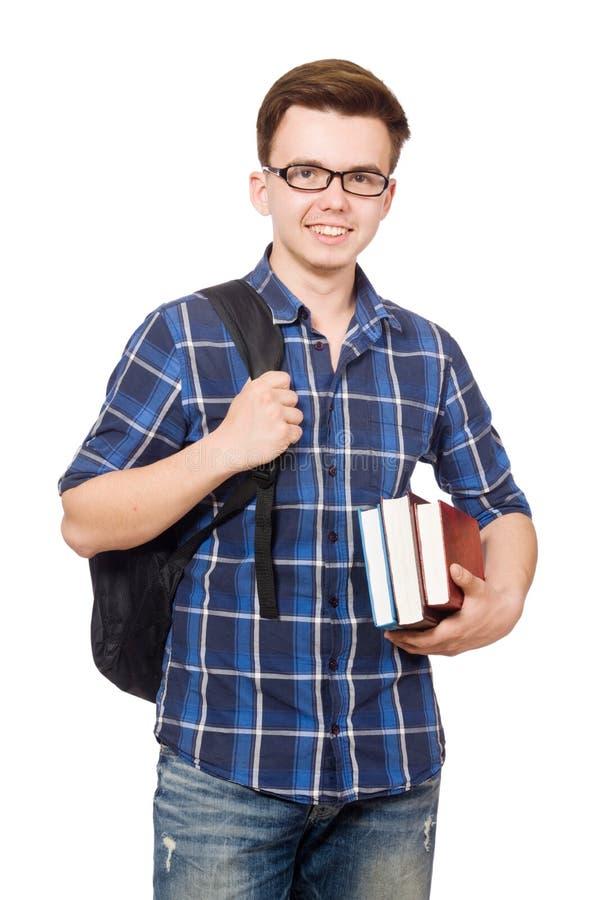 Download Estudiante Divertido Con La Pila Foto de archivo - Imagen de holding, humor: 41916694
