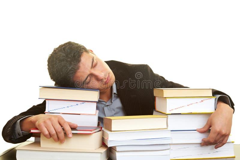 Estudiante durmiente fotos de archivo libres de regalías