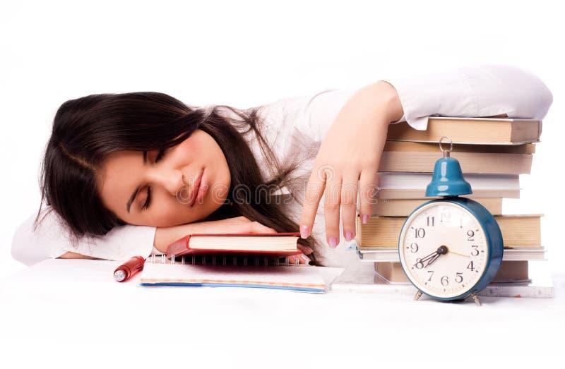 Estudiante durmiente fotografía de archivo