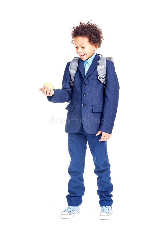 Estudiante en uniforme escolar fotos de archivo