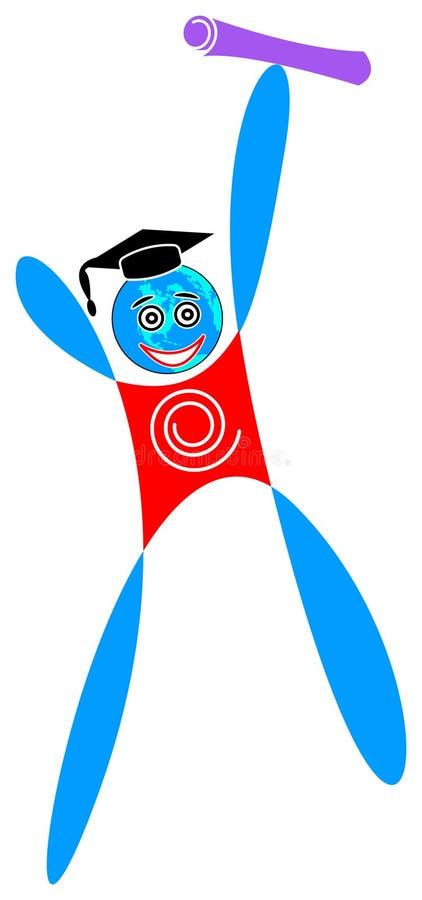 Estudiante feliz libre illustration