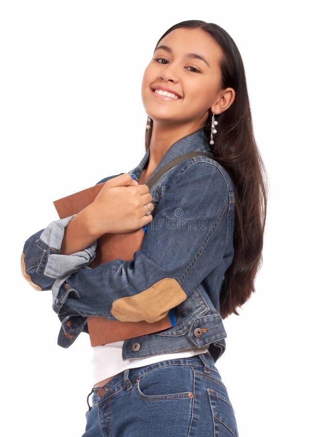 Estudiante femenino elegante y con estilo fotografía de archivo