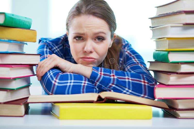 Estudiante frustrado fotos de archivo
