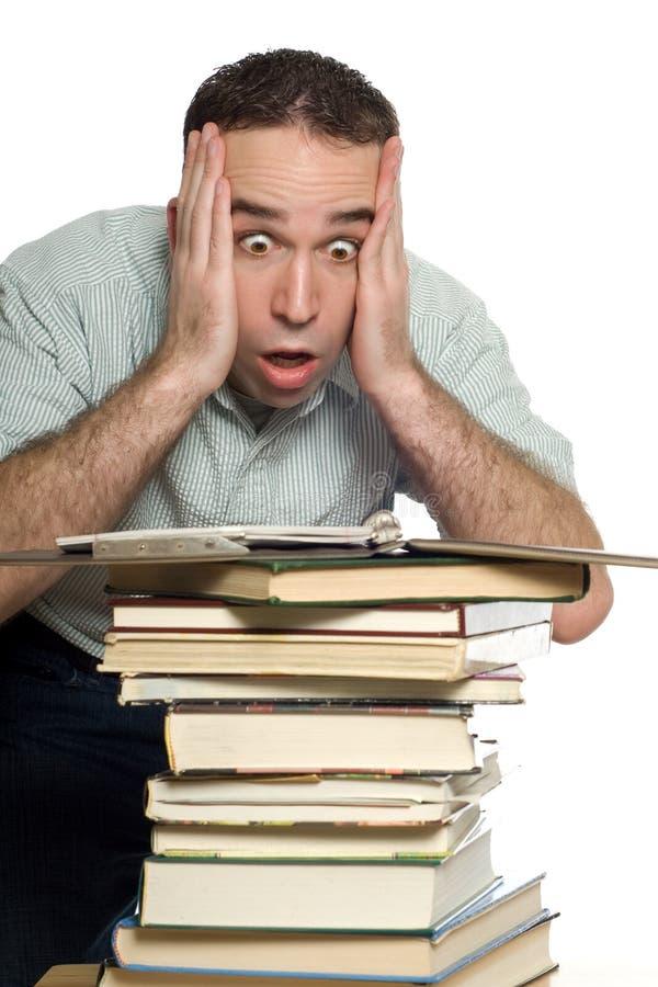 Estudiante frustrado foto de archivo