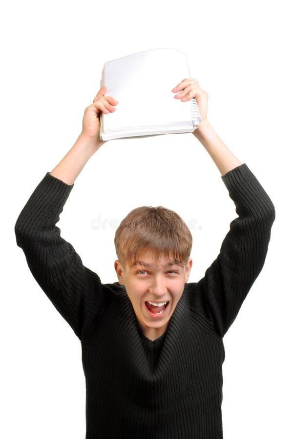 Estudiante frustrado imagenes de archivo