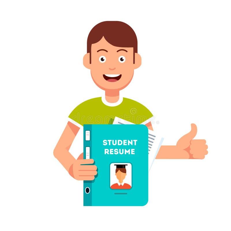 Estudiante Futuro Que Lleva A Cabo Y Que Muestra Su Curriculum Vitae ...