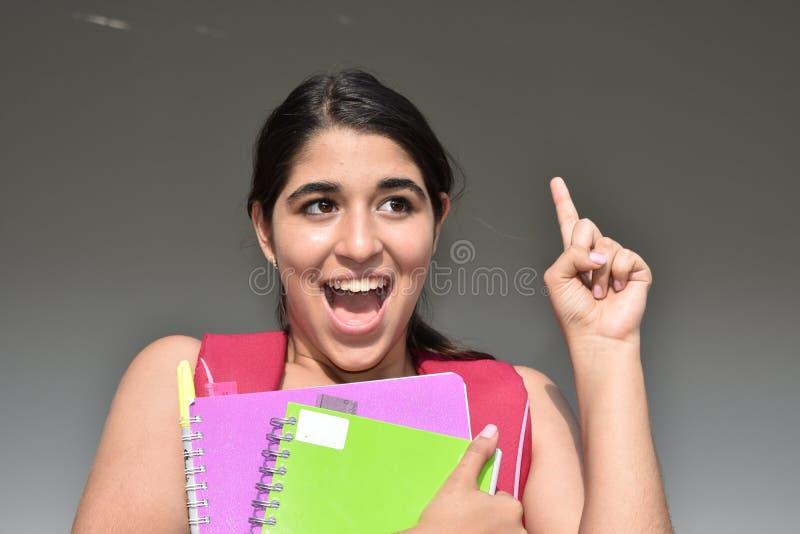 Estudiante Having An Idea imagen de archivo