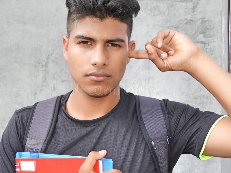 Estudiante hispánico silencioso del muchacho imagenes de archivo
