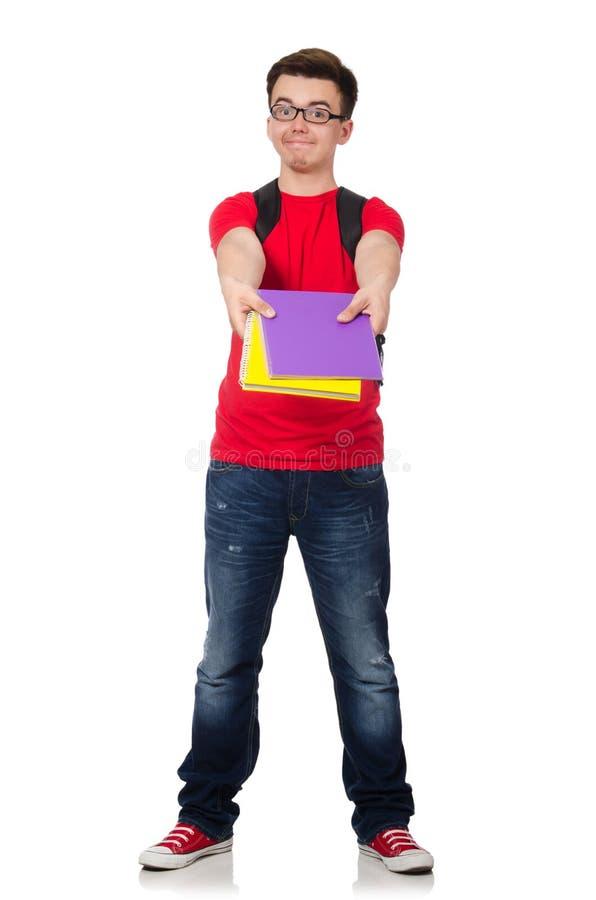 Download Estudiante Joven Con Los Libros Aislados Foto de archivo - Imagen de libros, bastante: 41916936