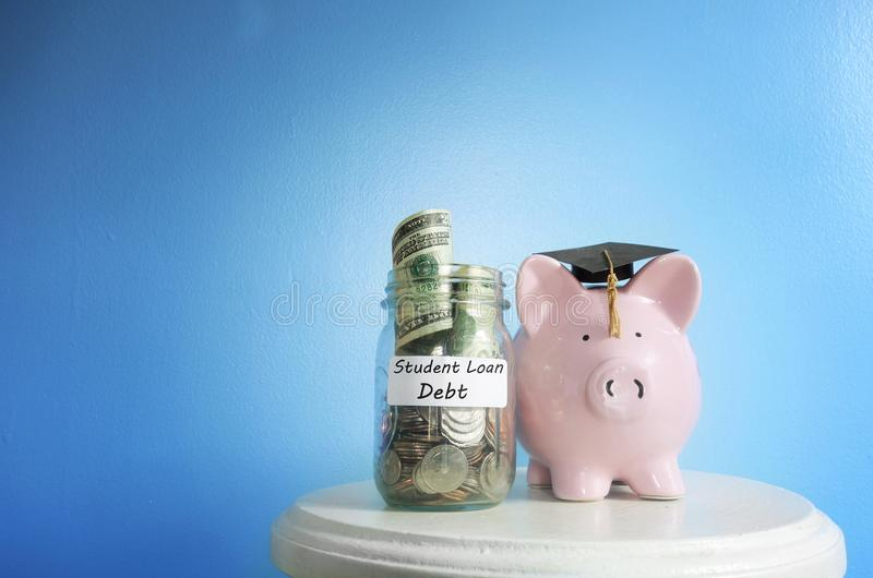Estudiante Loan Debt fotos de archivo libres de regalías