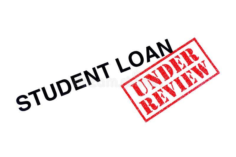 Estudiante Loan Under Review foto de archivo