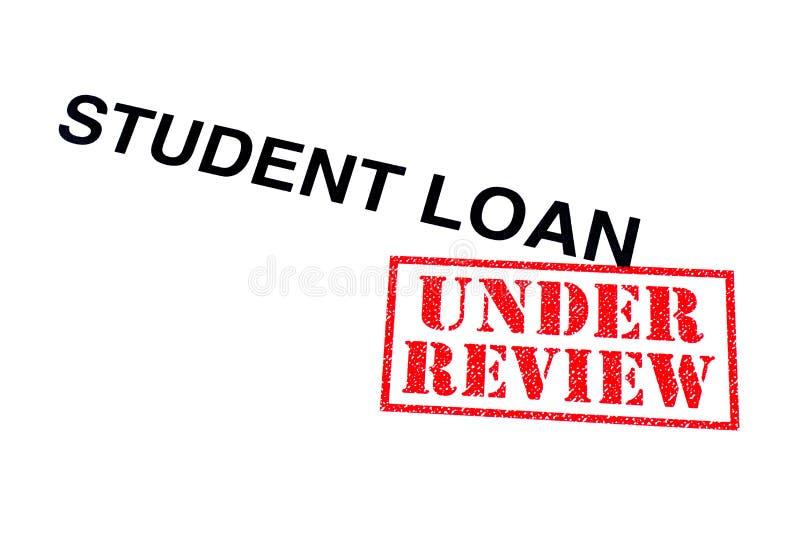 Estudiante Loan Under Review fotografía de archivo