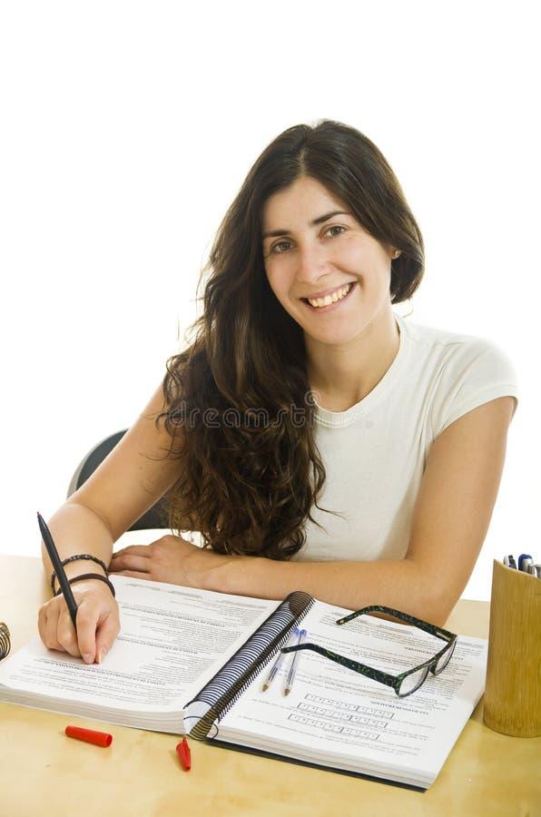 Estudiante moreno sonriente imagen de archivo
