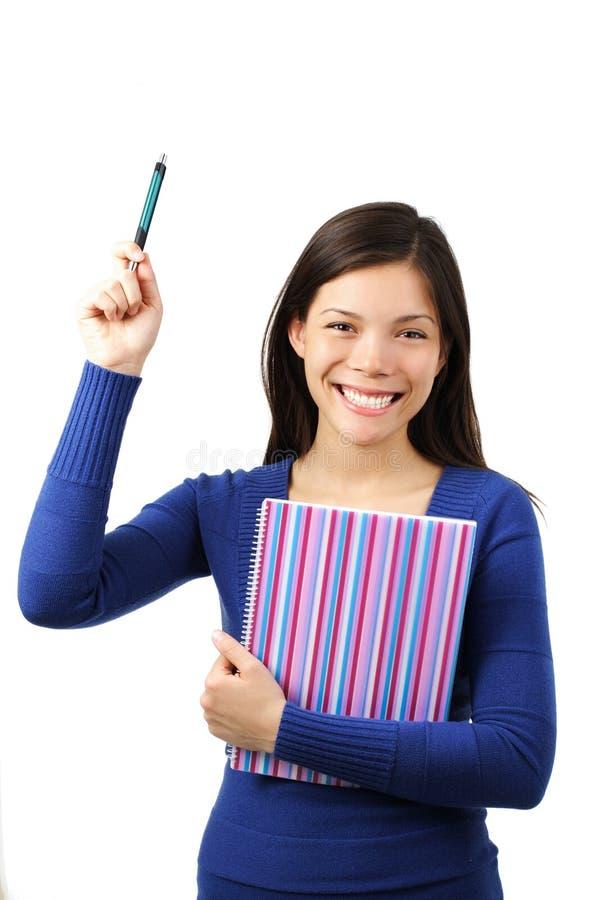 Estudiante que levanta la mano imagen de archivo libre de regalías