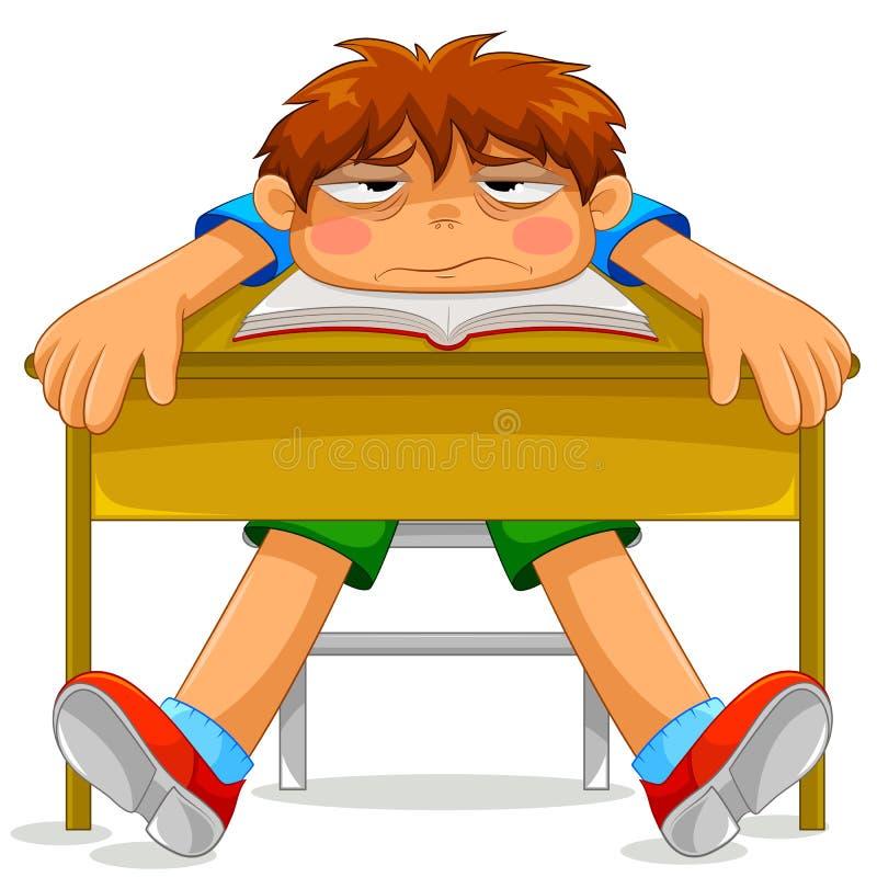 Estudiante desgraciado stock de ilustración