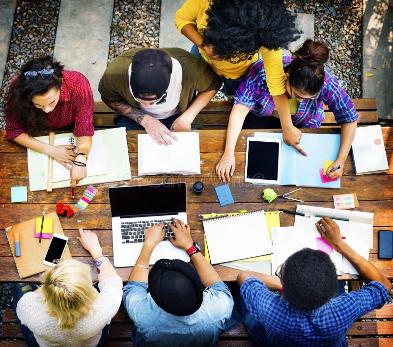 Estudiante Relationship Team Concept de la conexión de los colegas fotos de archivo libres de regalías