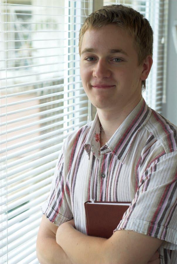Estudiante satisfecho imagen de archivo
