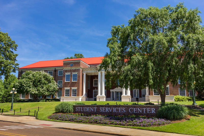 Estudiante Service Center de Martindale en Ole Miss imágenes de archivo libres de regalías