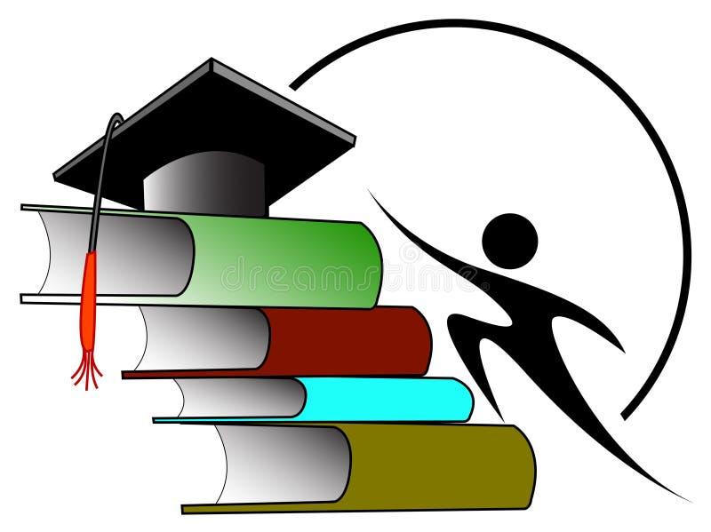 Estudiante universitario stock de ilustración