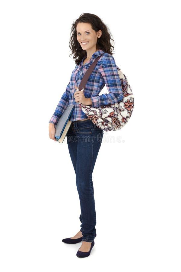 Estudiante universitario bonito feliz imagen de archivo libre de regalías